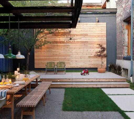 Modern Contemporary Landscaped Outdoor Room