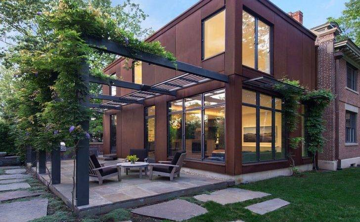 Modern Cor Ten Steel Glass Extension Classic Fayerweather