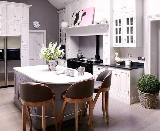 Modern Country Kitchen Diner White Grey Decorating