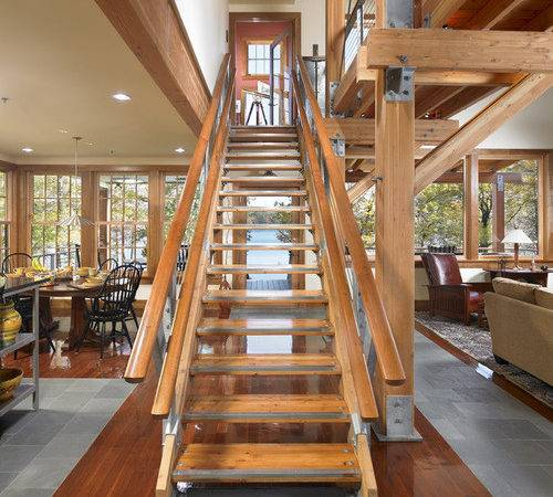 Modern Craftsman Style Cottage Staircase Design Ideas Renovations