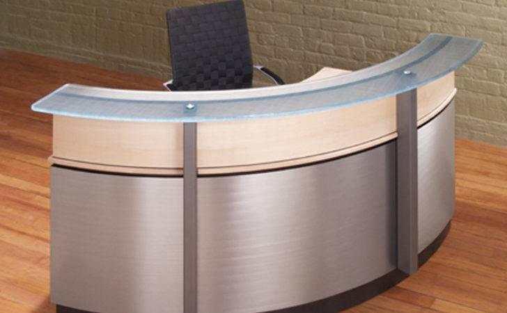 Modern Curved Reception Desk Custom