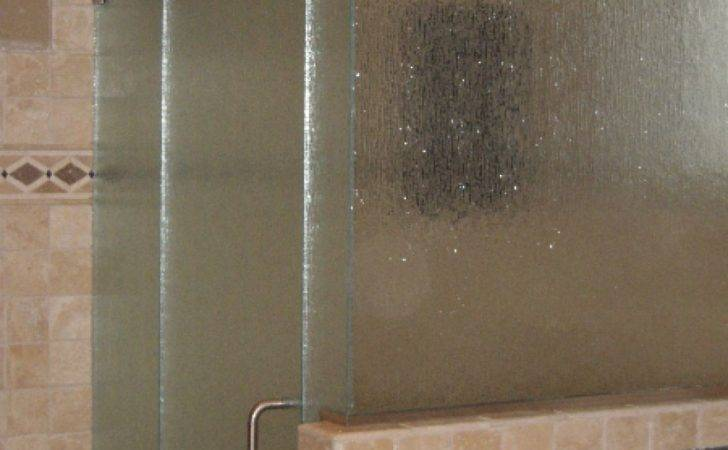 Modern Design Rain Glass Shower Door Textured Frosty Also