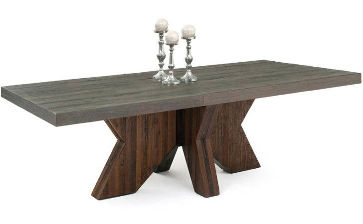 Modern Dining Table Design Reclaimed Wood Used