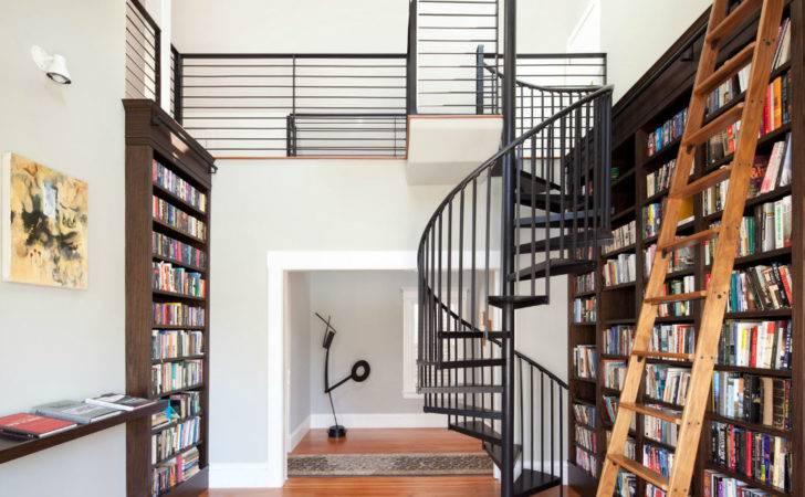 Modern Diy Library Ladder Design Used Cool