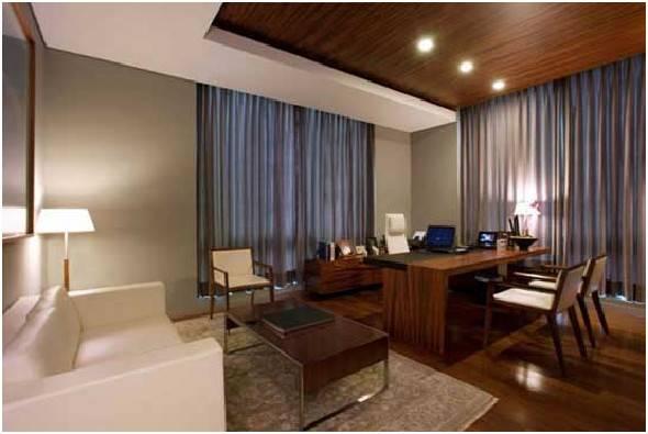 Modern Elegant Casual Office Interior Design Area