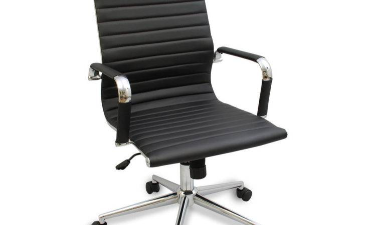 Modern Ergonomic Ribbed High Back Executive Computer Desk Office Chair