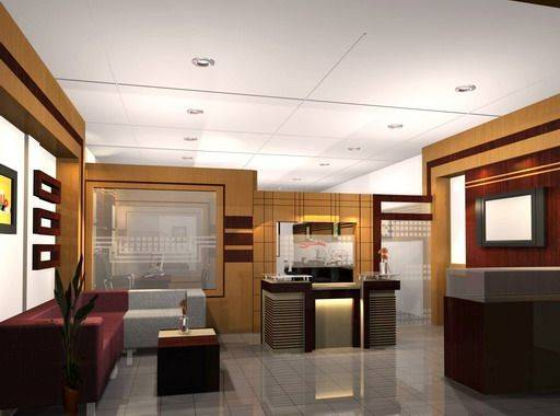 Modern Executive Office Interior Design Mix Mostly Neutral Colors
