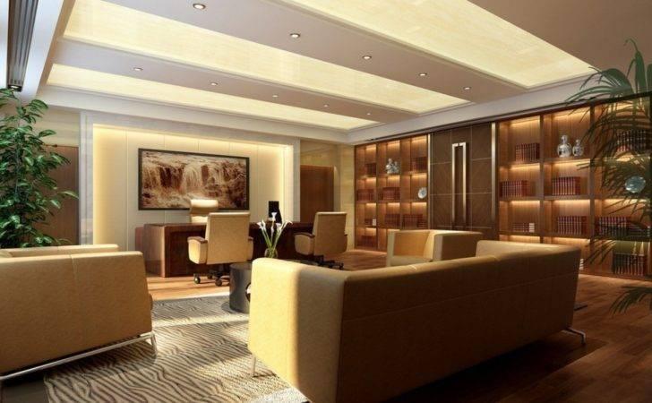 Modern Executive Office Interior Design Table