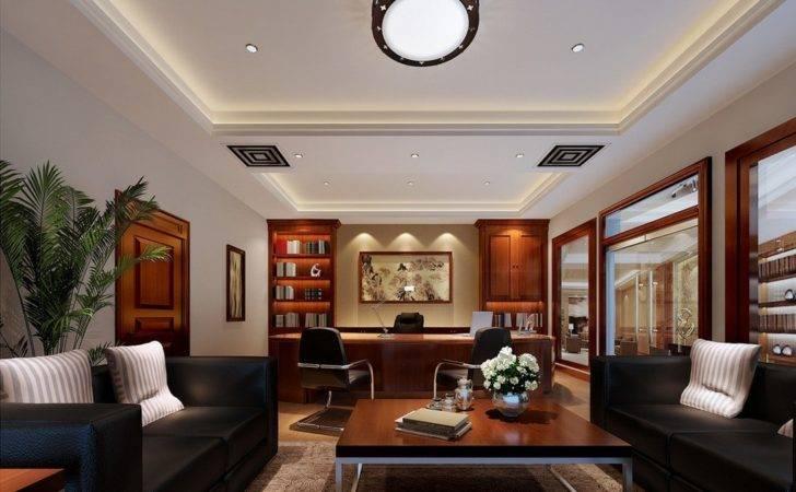 Modern Executive Office Luxury Ceo Interior Design Trend Home
