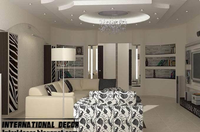 Modern False Ceiling Designs Living Room Interior