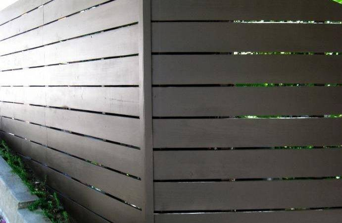 Modern Fence Backyard Pinterest