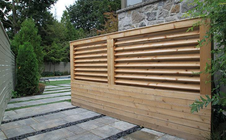 Modern Fence Minimalist Fences Montreal Outdoor Living