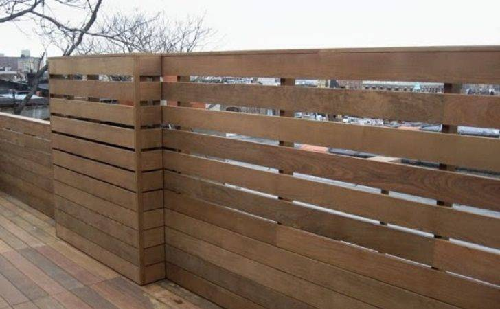 Modern Fences Typically Have Horizontal Boards Opposed