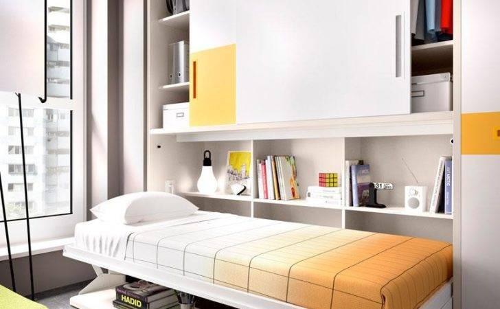 Modern Fold Away Wall Bed Desk Combination Rimobel Opt Wardrobe