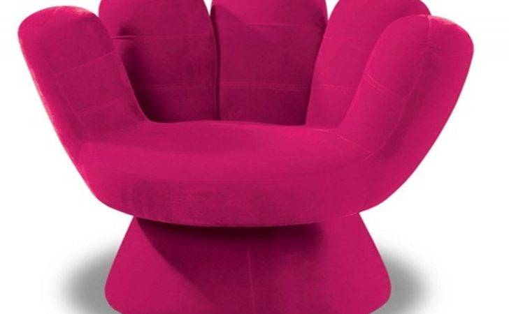 Modern Furniture Comfy Unique Soft Pink Hand Shaped