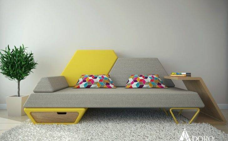 Modern Futuristic Sofa Inspired Trapeze Shape Pezio Home