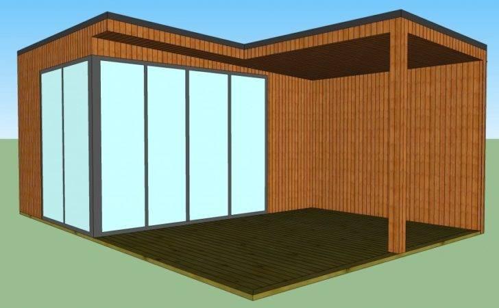 Modern Garden Room Design Covered Outdoor Seating Contemporary