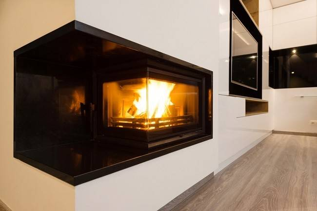 Modern Gas Fireplaces Along Stylized
