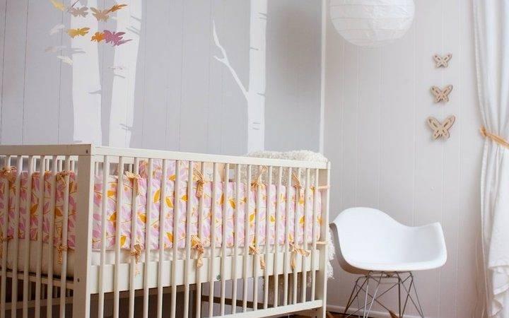 Modern Girls Gray Nursery