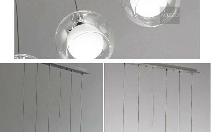 Modern Glass Bubble Double Tiers Lights Pendant Lamp Oblong Top