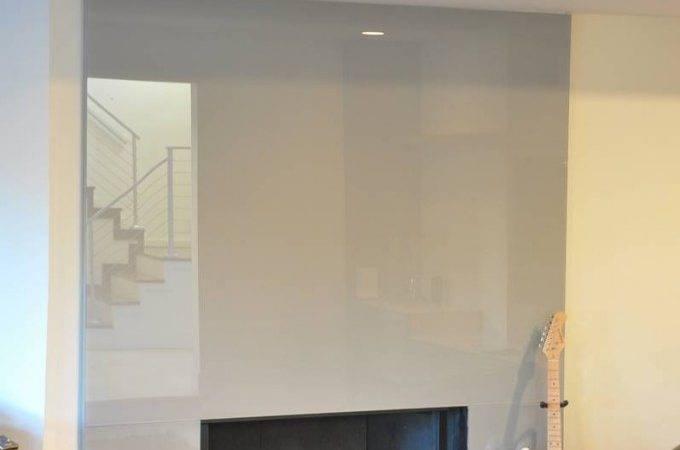 Modern Glass Fireplace Gray Color