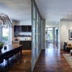 Modern Glass Partition Design Also Open Plan Kitchen