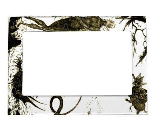 Modern Graphic Art Designer Style Magnetic Frame Zazzle