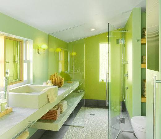 Modern Guest House Contemporary Bathroom Burlington Mitra