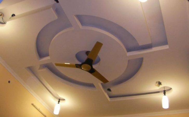 Modern Gypsum False Ceiling Designs Lighting Fan