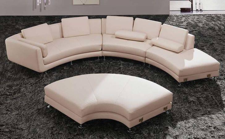 Modern Half Circle White Sofa Sleeper Part Furniture Small