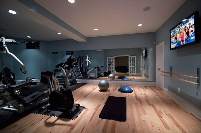 Modern Home Gym Rule Building Group