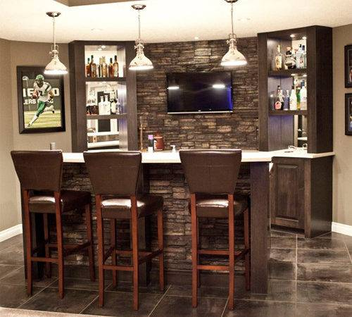 Modern Home Wet Bar Designs Fireplace