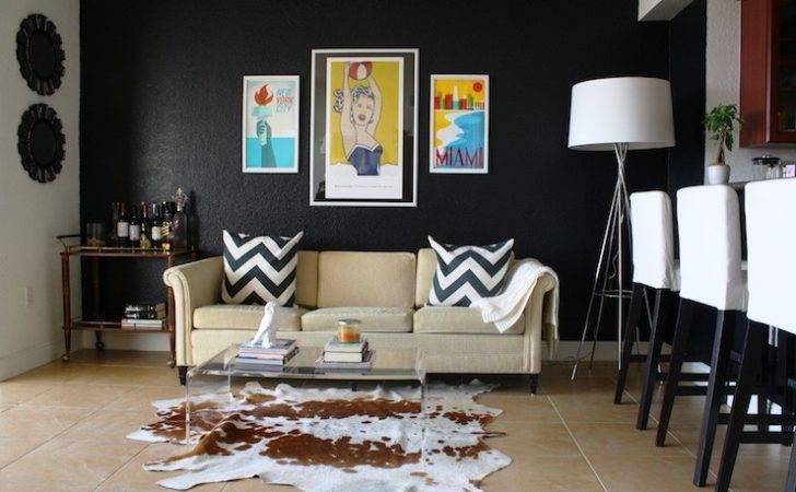 Modern House Cowhide Rug Living Room Acrylic Coffee Table