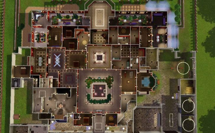Modern House Plans Sims Floor Mansion Home