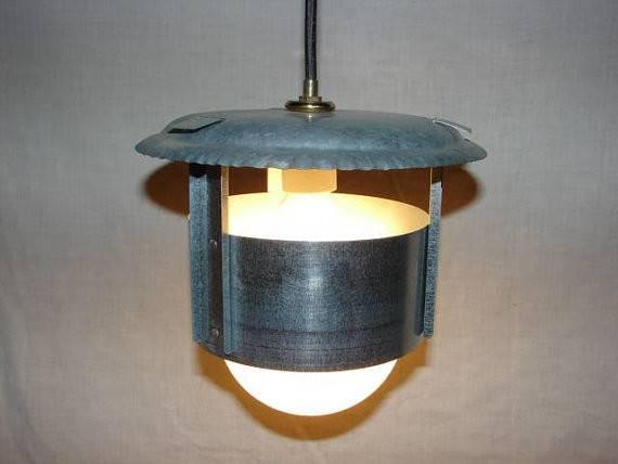 Modern Industrial Handcrafted Repurposed Hanging Light Fixture
