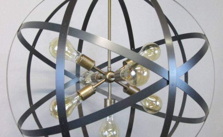 Modern Industrial Orb Chandelier Ceiling Light Inch Sphere