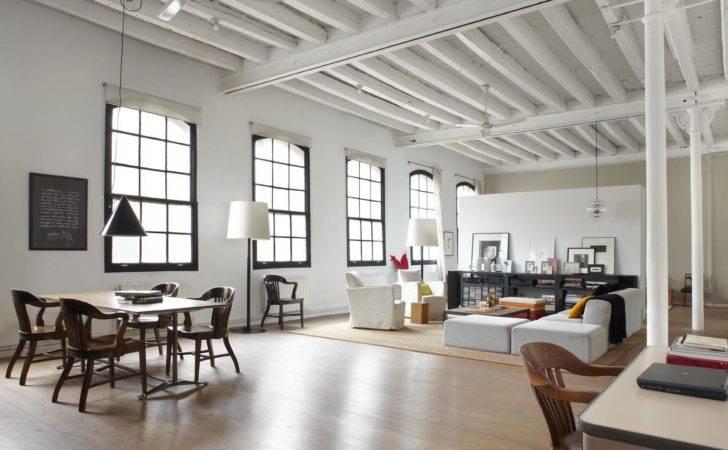 Modern Industrial White Loft Barcelona