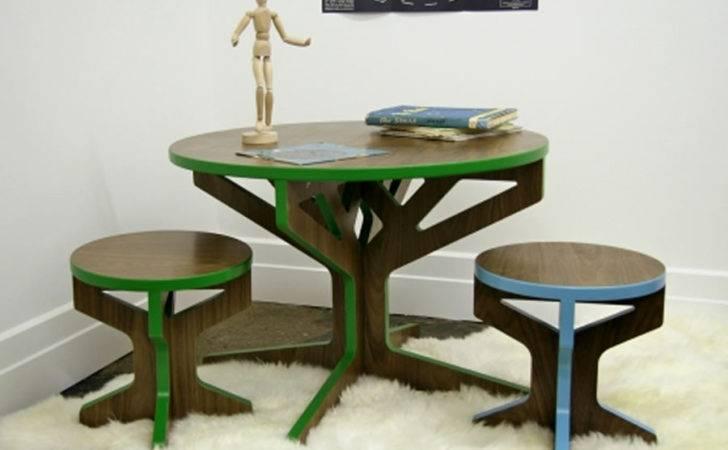 Modern Kids Children Home Furniture Design Interlocking Three Table