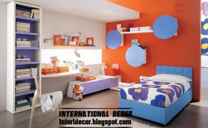 Modern Kids Room Color Schemes Red