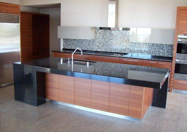 Modern Kitchen Absolute Black Granite Countertops