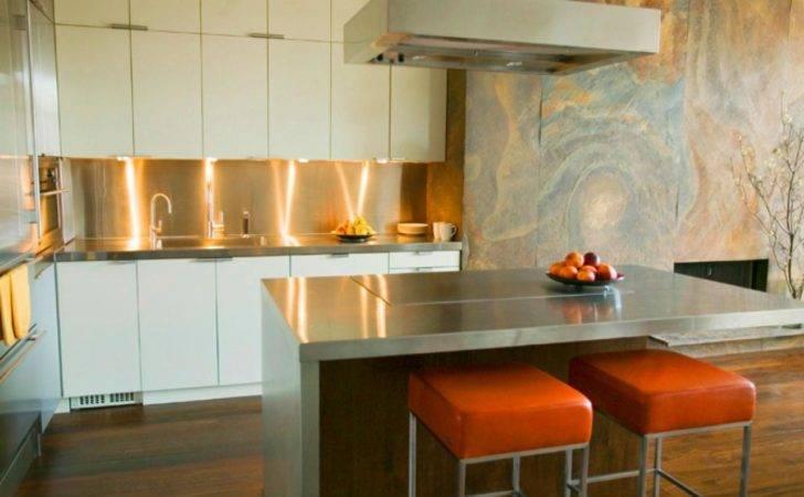 Modern Kitchen Design Copper Backsplash Several