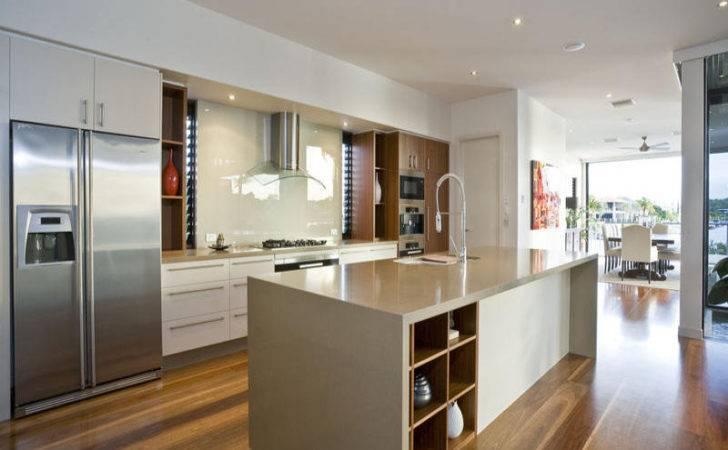 Modern Kitchen Dining Design Using Floorboards
