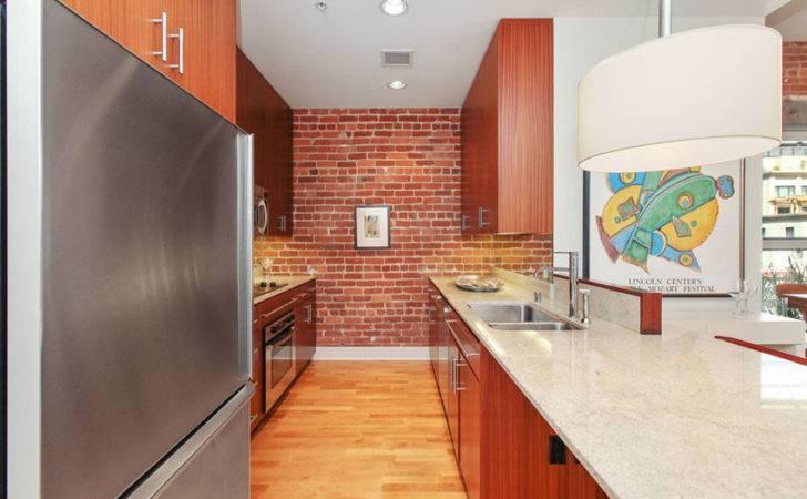 Modern Kitchen Red Brick Veneer