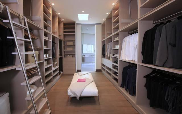 Modern Large Walk Closet Design Interior Ideas