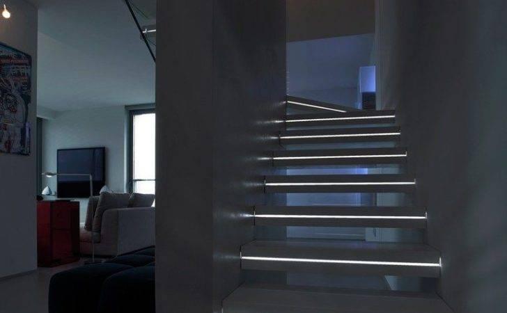 Modern Lighting Ideas Turn Staircase Into Centerpiece