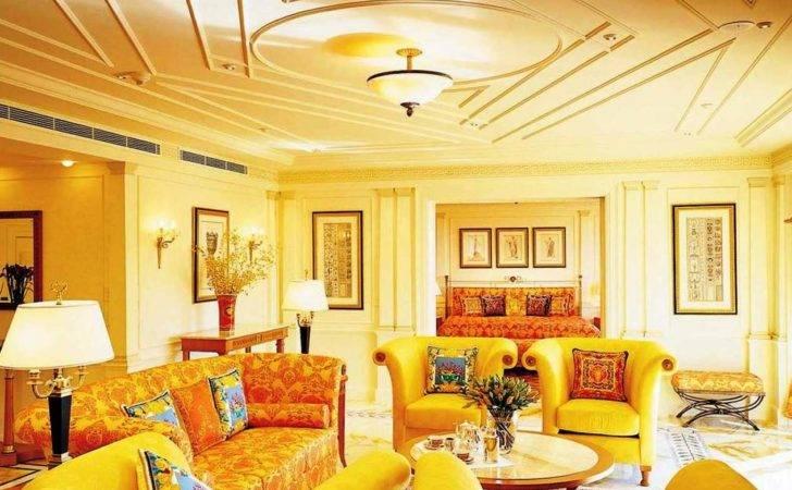 Modern Living Room Yellow Color