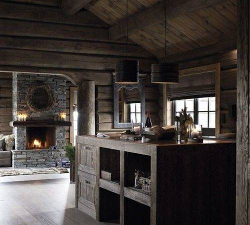 Modern Log Cabin Design Interior Pinterest