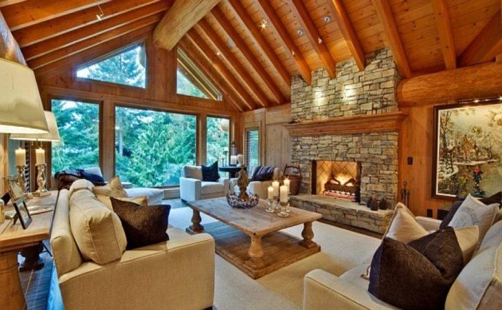 Modern Log Cabin Kitchen Interior Design