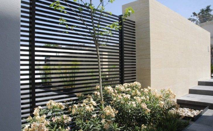 Modern Looking Iron Fence Gardens Beds Pools Ideas