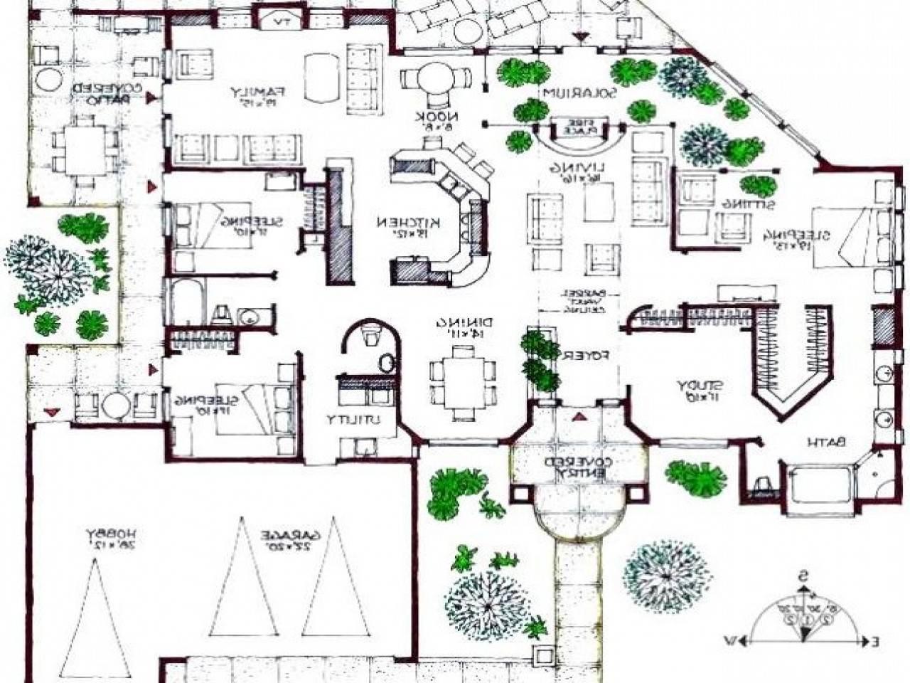 Modern Mansions Floor Plans Homes